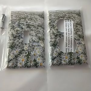 Daisy Field Switch Cover + Duplex Outlet Cover New